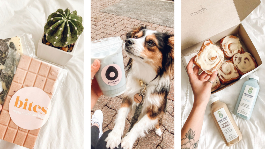 Thumbnail, sneak peak of the delicious eats brought to you in this post. Also featuring a cute puppy for added aesthetic purposes.